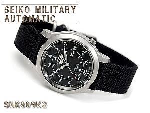 seiko5 non-release business for the SEIKO SEIKO 5 SEIKO5 SEIKO five men military watch SNK809K reimportation SEIKO self-winding watch mechanical machine type black mesh belt SNK809K2 three years guarantee men watch man in Japan