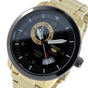 【日本製 逆輸入SEIKO】セイコー セイコー5 スポーツ 自動巻き メンズ 腕時計 SSA210J1 ブラック