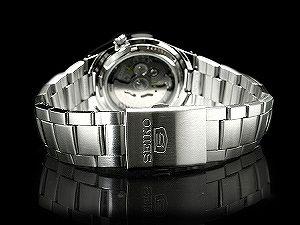 SEIKO 5 men's self-winding watch watch diamond cut dark brown dial silver stainless steel belt SNK605K1