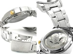 SEIKO 5 men's self-winding watch watch black X gold dial stainless steel belt SNKK17K1
