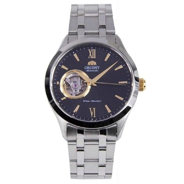 オリエント 腕時計 ORIENT 時計 FAG03002B0 オープンハート 自動巻き 男性用 メンズ シルバー ブラック アナログ 送料無料 プレゼント