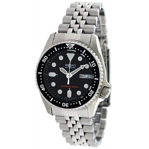 セイコー 腕時計 Seiko 腕時計 時計 メンズ SKX013K2 Black Dial Automatic Divers Midsize Watch 軽量 自動巻き式 ダイビング用防水 送料無料 プレゼント