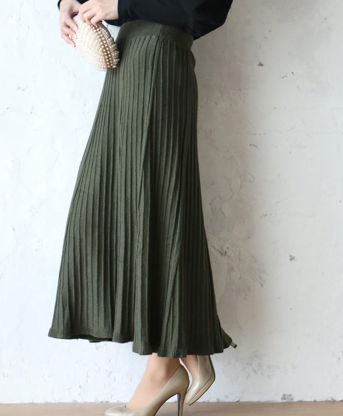 【再入荷♪12月13日12時&22時より】「FRENCH PAVE」温もりある素材の着まわしやすいカラースカート