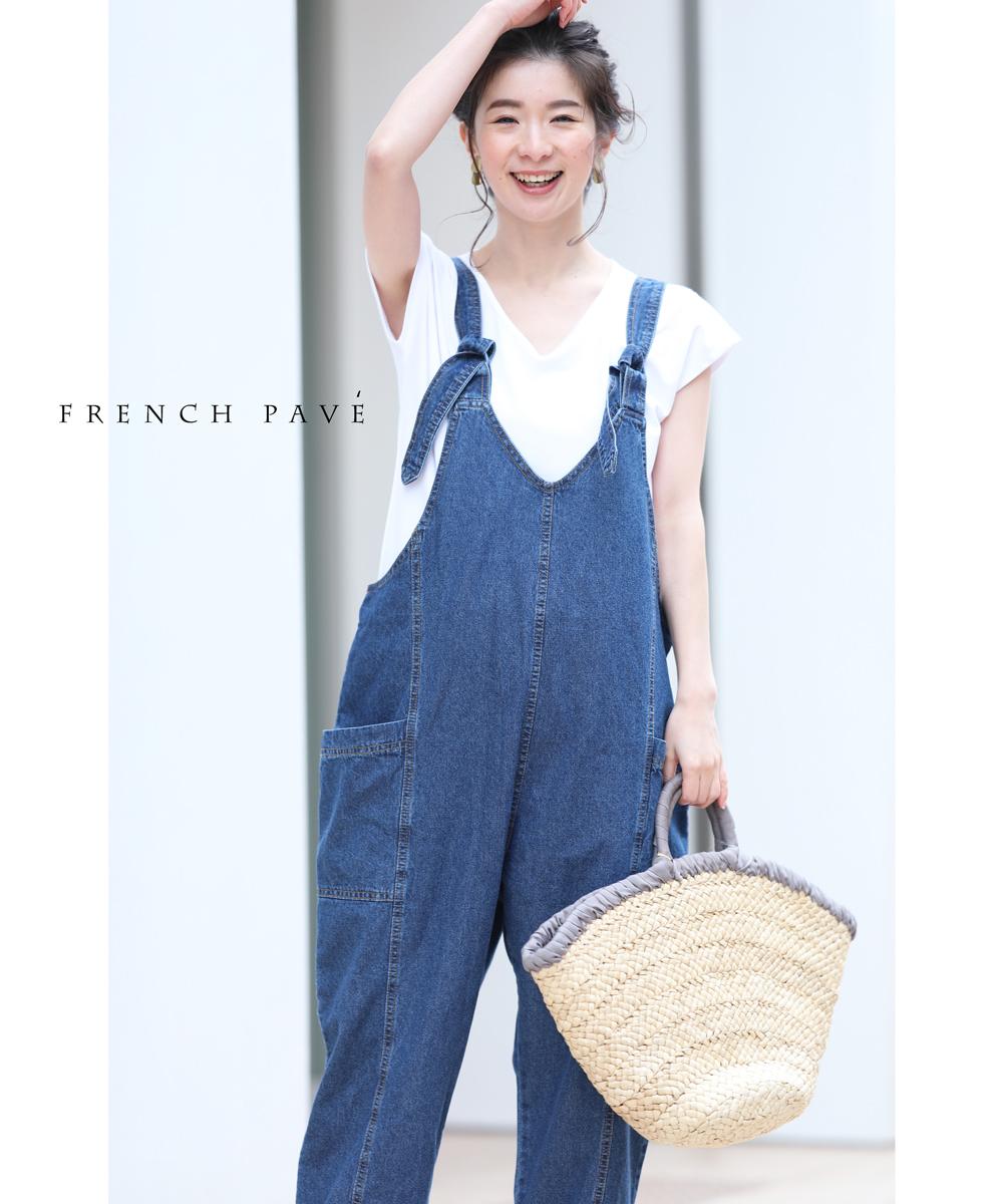 残りわずか「FRENCH PAVE」ラク可愛いこだわりシルエットのデニムサロペット