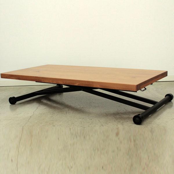 【送料無料】 温かみのある木目と質感が感じられる、デザイン性と機能性を兼ね備えたリフティングテーブル