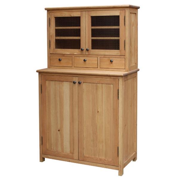 【送料無料】 【無公害塗料】パイン材 カントリー調 カップボード 850 食器棚 自然塗料