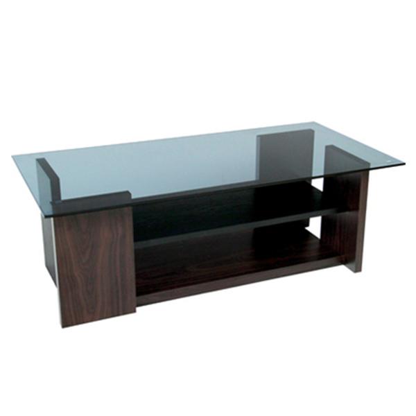 【送料無料】 100 ガラステーブルシンプルで直線的なデザインテーブルテーブル ガラストップテーブル ブラウン brown 強化ガラス リビングテーブル ローテーブル コーヒーテーブル ガラス天板 シンプル オシャレ リビングテーブ