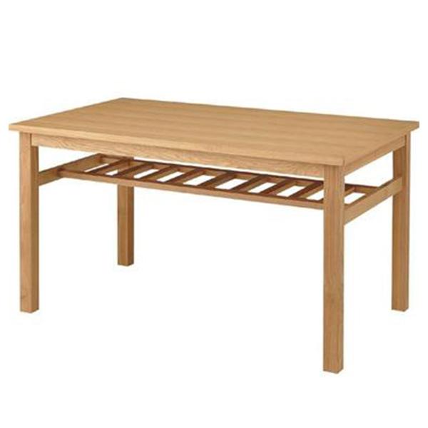 【送料無料】 135 ダイニングテーブル フリーテーブル テーブル 食卓テーブル ワークテーブル 棚板 収納 棚付 定番 おしゃれ 天然木 食卓机 机 つくえ シンプル ナチュラル オシャレ 長方形 可愛い 4人用 北欧 形状 木製