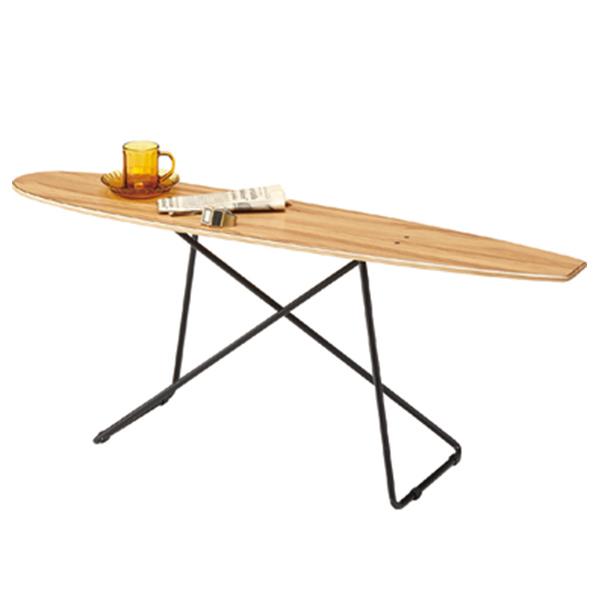 【送料無料】 テーブル サイドテーブル コーヒーテーブル つくえ 机 リビングテーブル 幅117cm 家具 カフェ風 インテリア 西海岸 ビンテージ風 ヴィンテージ風 メンズテイスト レトロ おしゃれ スケボー スケートボード アメ