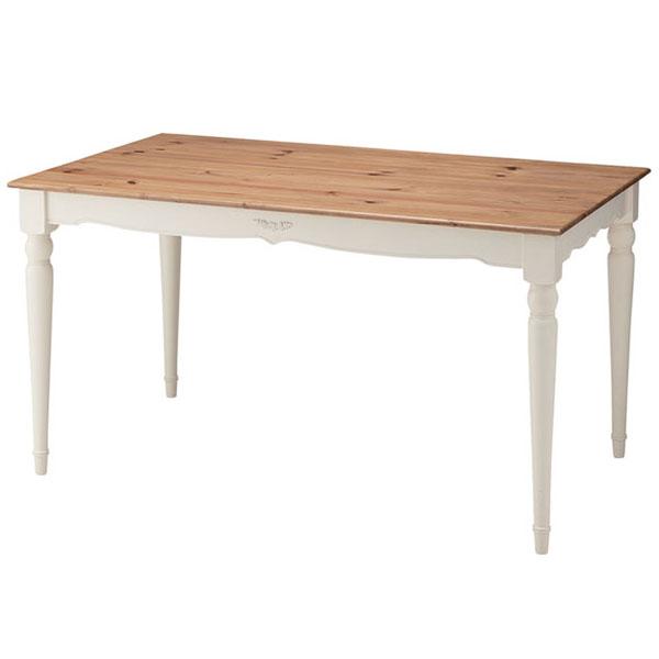 【送料無料】 135 ダイニングテーブル ダイニング テーブル 食卓テーブル 食卓机 ダイニング机 フレンチ カントリー 机 木製 天然木 幅135 幅135cm 135幅 ナチュラル フレンチカントリー カントリー調 ファミリー