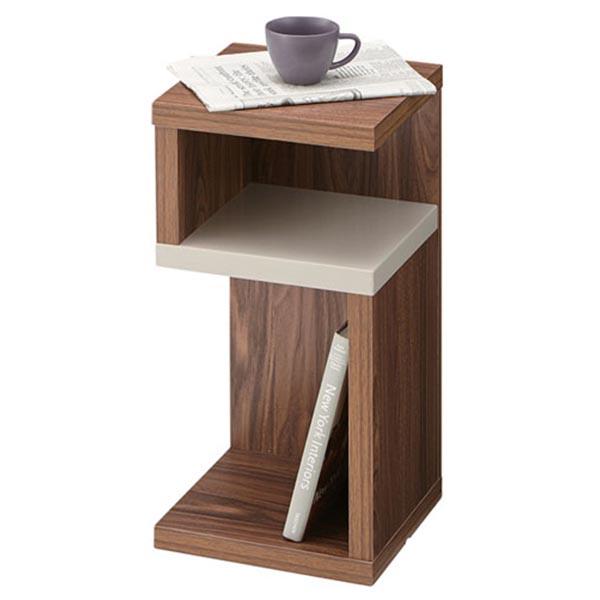 【送料無料】 サイドテーブル 幅28cm コンパクトなミニテーブル 小さいながらに大活躍 ミニテーブル/ウォールナット/小物置き/本棚/インテリア/モダン/レトロ/高さ56cm/お洒落/