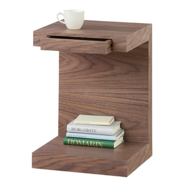 サイドテーブル シンプルながら、モダンでスタイリッシュなコの字型のデザイン性高い、サイドテーブル。 コの字