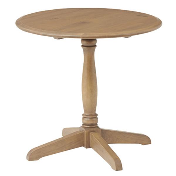 【送料無料】 ラウンドテーブル 木製 天然木 パイン材 ブリティッシュ/カントリー