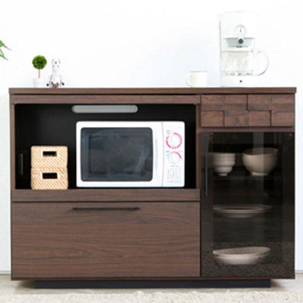【送料無料】 120 キッチンカウンター日常の空間をオシャレにまとめるシリーズ 日本製 完成品 カウンター キッチン収納 家電収納 レンジ台 レンジボード モダン おしゃれ