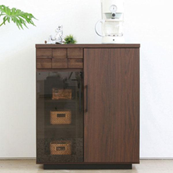【送料無料】 70 カウンター キッチンカウンター コンパクト 小型 扉収納と引き出し収納 完成品