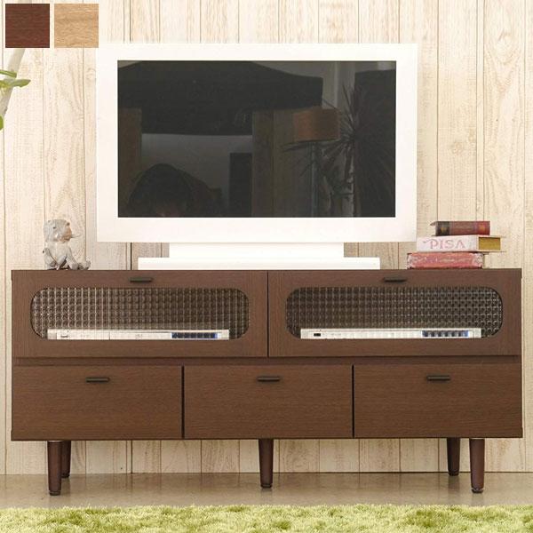 【10%OFF/送料無料】120 TVボード ブラウン/ナチュラル レトロチックなデザインが魅力なシリーズ 日本製 レトロ/モダン/ミッドセンチュリー/北欧/ナチュラル/和