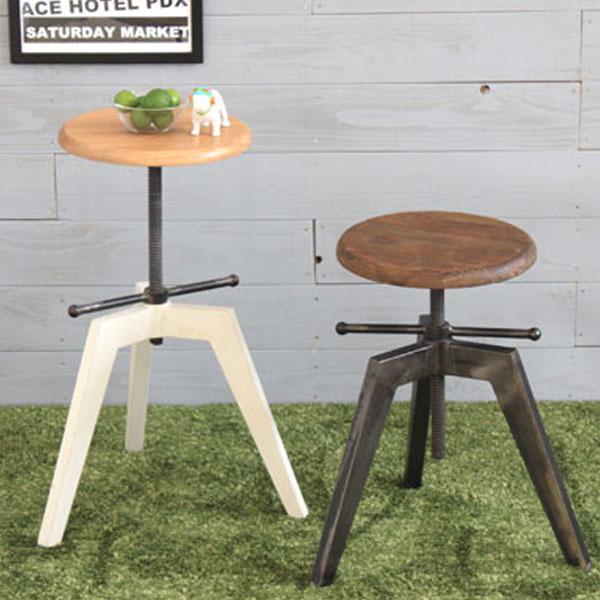 【送料無料】 スツール (WH/BK) エイジング加工を施した「工房」にありそうなチェア ちょっと置いておくだけで、おしゃれ感がアップ! 作業用、玄関での腰掛、飾り台などなど、アイデア次第で何にでも使えます
