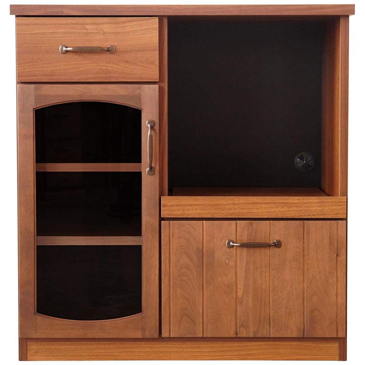 【送料無料】80 カウンター 食器棚 キッチンボード カップボード シェルフ 幅80 大型
