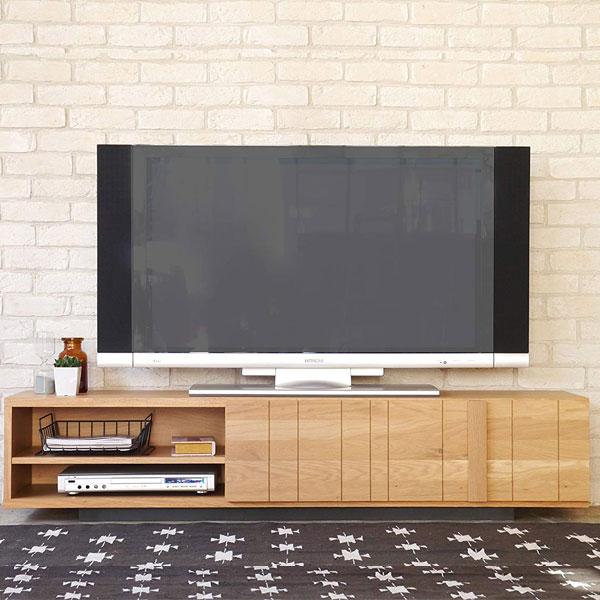 【送料無料】160テレビボード モダンなデザインに、天然木のオーク材のナチュラルな感じがマッチして、高級感があります さり気なく付いた取っ手と、フルスライドするレールで引き出しの開閉も驚くほどスムーズ!