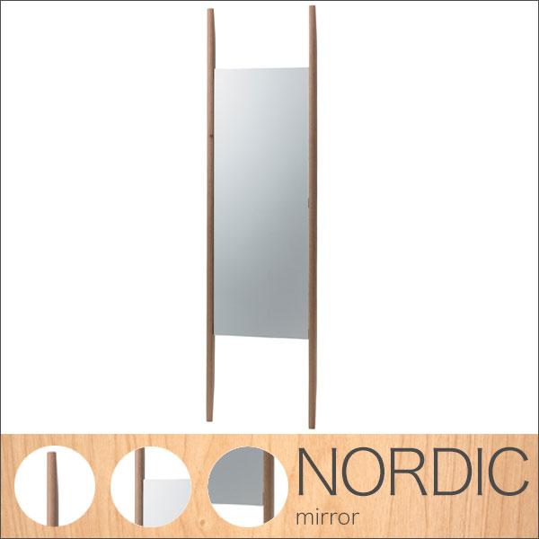 【送料無料】ミラー 立掛け式 鏡 かがみ ラダーミラー 木製フレーム 壁に立て掛けて使えるラダーミラー 姿見 ウッド 天然木オーク材使用でナチュラル感たっぷり 北欧/カントリー/ナチュラル/シンプル/和風/和モダン/モダン カフェやショップ、美容室にサロンなどで活躍