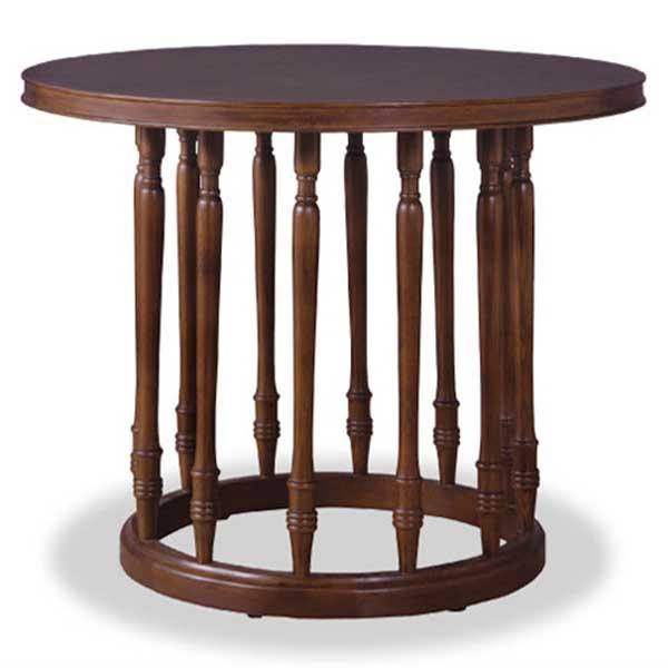 【送料無料】 ラウンドテーブル 円形テーブル コーヒーテーブル ダイニングテーブル ホテルやオフィスの花台・観葉植物置きにも◎ 多様に使えるテーブル 机 天然木オーク材使用 ブラウン エレガント/フェミニン/上品/カントリー/レトロ
