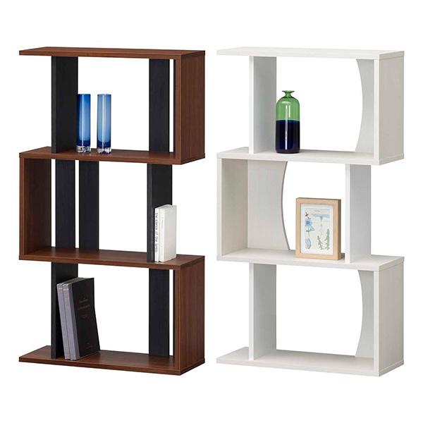【送料無料】 60 ラック ロータイプ (NA/WH/DK) ディスプレーラック ラック シェルフ 縦置き/横置きどちらも使用可能 オープンラックで飾り棚としても 本棚 書棚 ナチュラル/ホワイト/ダークブラウンの3色 北欧/レトロ