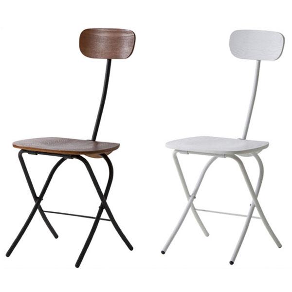 【送料無料】 フォールディングチェア (BK/WH) 使わない時はコンパクトに折り畳んで収納可能 折畳み式 チェアー ブラックとホワイトの2色 シンプルでスッキリとしたデザインの椅子 デスクチェアや簡易チェア、ダイニングチェアに モダン