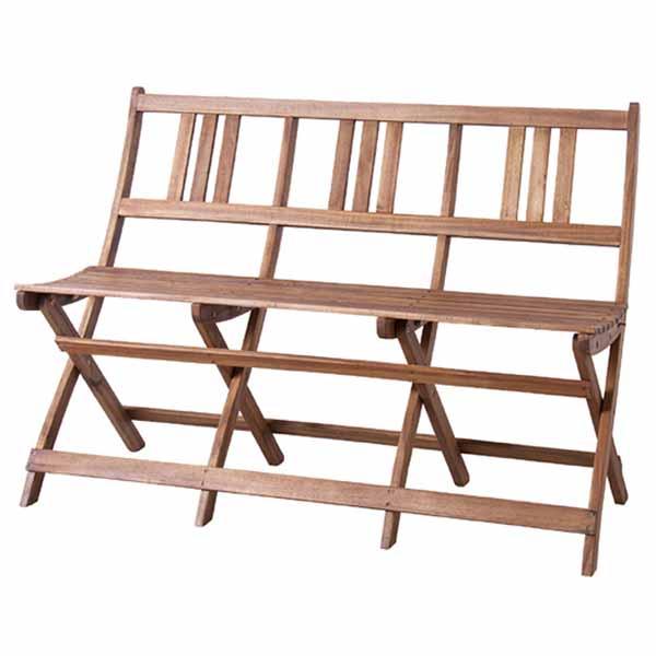 【送料無料】 3P ベンチ チェア 3人掛け 使わない時はコンパクトに収納可能な折り畳み式 天然木アカシア材・オイル仕上げ 半屋外/屋内兼用 庭やテラス、バルコニーに アウトドア・ガーデン 北欧/ナチュラル/カントリー/シンプル 幅