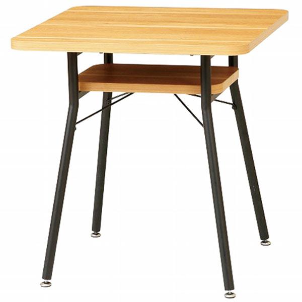 【送料無料】 65 ダイニングテーブル 棚付き 2人用 コンパクトサイズ 角型 食卓テーブル 正方形 幅65cm 高さ68cm 北欧/シンプル/モダン/ブルックリン/レトロ/カフェ風/男前インテリア