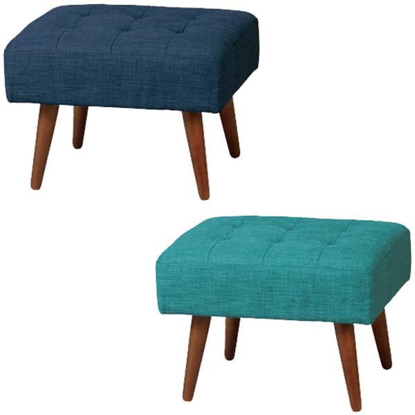【送料無料】 スツール (EBL/NV) 天然木×ファブリックの北欧風デザイン リビングでの簡易椅子や玄関先での腰掛けいす、オットマンなど使用可能 幅56cm 奥行48cm 高さ41cm シンプル/モダン/ブルックリン/北欧/ポップ