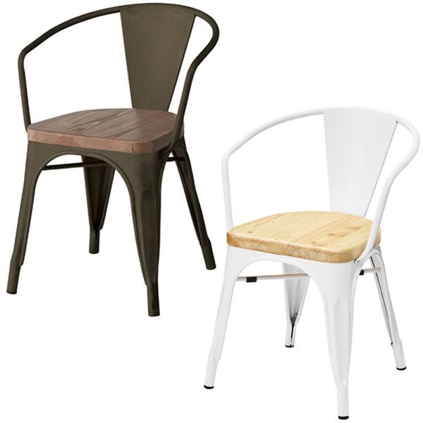 【送料無料】チェア ブラック/ホワイト チェアー 椅子 ダイニングチェア デスクチェア 白 黒 モノトーン/シンプル/男前/デザイナーズ風/ブルックリン/モダン 幅52cm 奥行き50cm 高さ71cm 座面の高さ44cm スタッキング可能