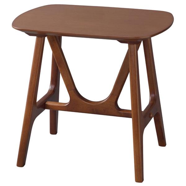 【送料無料】サイドテーブル ミニテーブル ナイトテーブル ベッドサイドやソファサイドで活躍 ブラウン 天然木アッシュ材使用 幅50cm 奥行き38cm 高さ48cm レトロ/モダン/ホテルライク/和モダン/ミッドセンチュリー/カフェ