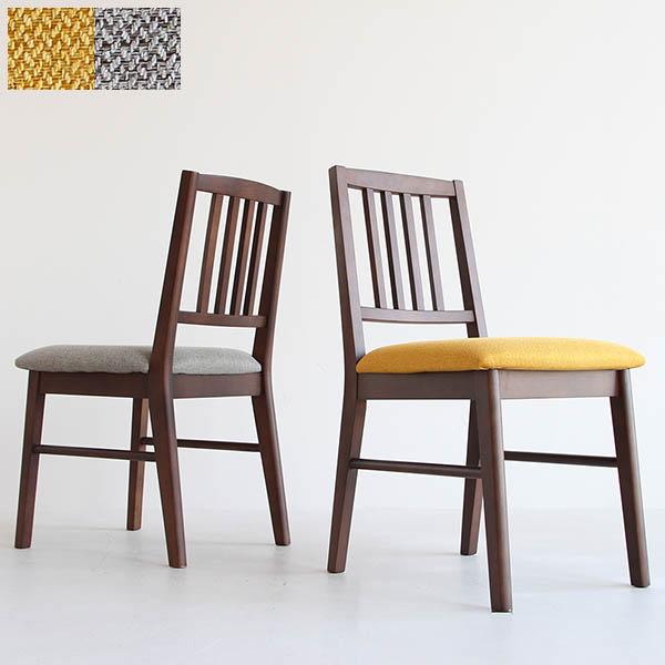 【送料無料】 ダイニングチェアー (YL/GY) チェア イス 椅子 いす デスクチェア シンプル 食卓椅子 イエロー グレー ファブリック ダイニングチェア レトロ/ミッドセンチュリー/ノスタルジック/シンプル/北欧 座面高44.5cm