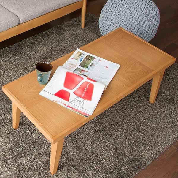 【送料無料】 ローテーブル 折れ脚 (BR/LBR) ワンランク上のシンプルアイテム ヘリンボーン/格子柄 コーヒーテーブル カフェテーブル 横幅93cm 木製 北欧/モダン/シンプル/ナチュラル/一人暮らし/折り畳み式