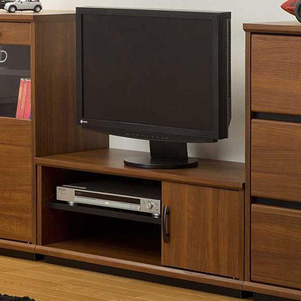 【送料無料】82 ローボード テレビ台 テレビボード ブラウン×ブラックでレトロモダン シンプル/モダン/レトロ/ミッドセンチュリー/北欧 幅82cm 奥行き36cm 高さ33cm