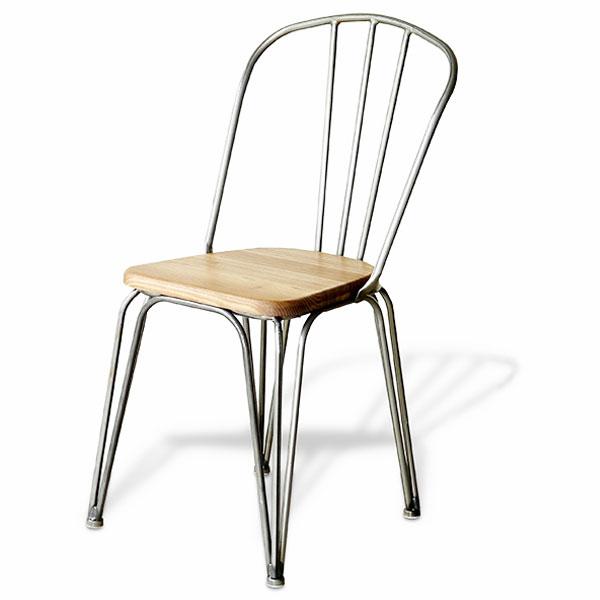 【送料無料】ダイニングチェア チェアー 椅子 デスクチェア 男前/インダストリアル/ブルックリン/西海岸/シンプル 幅50cm 奥行き46cm 高さ85cm 座面の高さ44cm 木製・エルム材×スチールの異素材ミックス 完成品