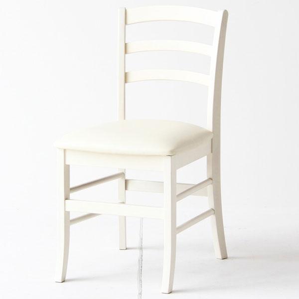 【送料無料】チェアー デスクチェア 椅子 背もたれ付 ダイニングチェア かわいい ホワイト 白 フレンチ/フレンチカントリー/アンティーク/クラシカル/ホワイト家具/白家具/姫系 コンパクト 幅40.5cm 奥行き53cm 高さ81cm 座面高46cm