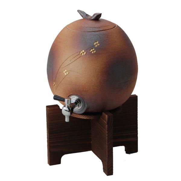 【10%OFF/送料無料】 信楽焼 陶器サーバー (コルク栓なし)