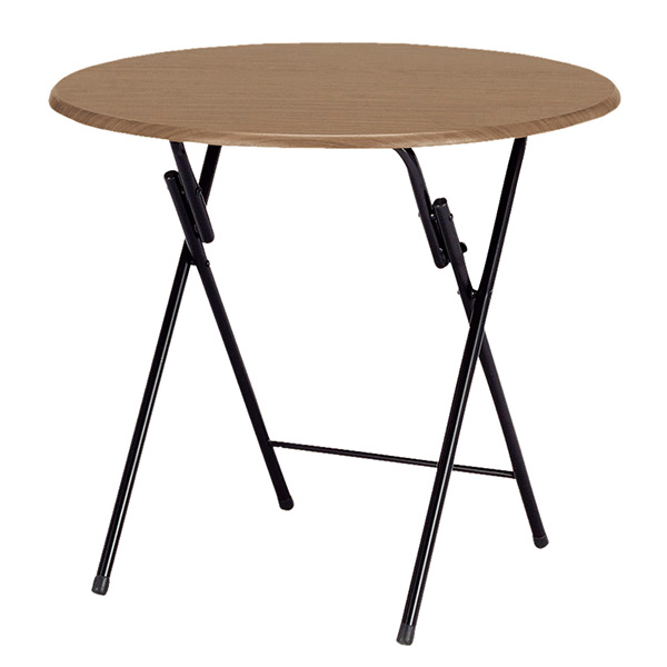 【送料無料】 フォールディングテーブル折り畳みテーブル テーブル 机 センターテーブル リビングテーブル シンプル 薄い 一人暮らし 1R ブラウン 人気 スチール 折り畳み おりたたみ