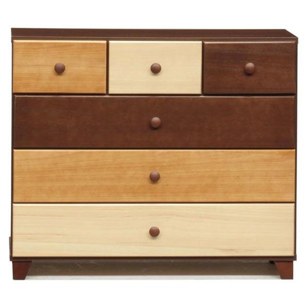90ローチェスト 3色で構成された、ナチュラルテイストのチェスト。天然木を色分けして塗装した個性的なデザインで、単なる「家具」ではなく、お部屋を彩るオブジェ感覚で置いていただけるアイテムです。【日本製】【完成品】
