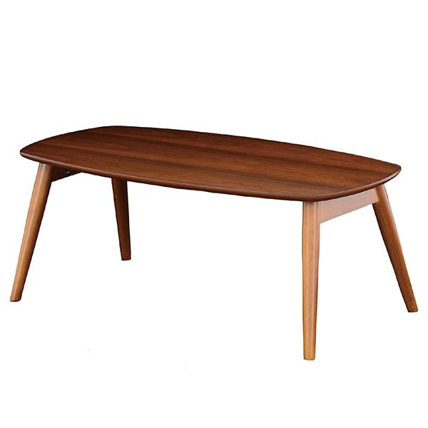 【送料無料】 リビングテーブル ウォールナット使用、人気のカフェスタイルテーブル。テーブル シンプル センターテーブル リビングテーブル ローテーブル 机 モダン レトロ 木製 家具