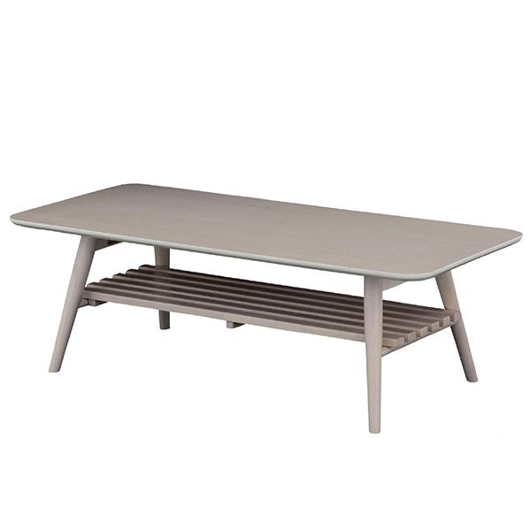 【送料無料】 110 リビングテーブル (棚付) センターテーブル テーブル 折り畳み式 折畳み カフェ レトロ ガーリー 木製 インテリア 家具 ホワイト ホワイト家具 折畳 折りたたみ コーヒーテーブル つくえ 机 北欧 ナチュ