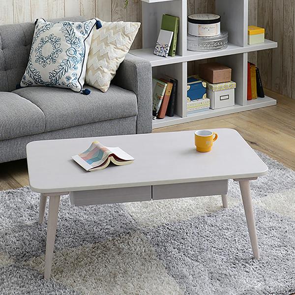 【送料無料】 90 リビングテーブル (WH/DBR) センターテーブル テーブル コーヒーテーブル つくえ 机 北欧 ナチュラル 白家具 姫系 ブラウン レトロ ミッドセンチュリー カフェ レトロ ガーリー 木製 インテリア 家具