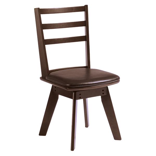 【送料無料】ダイニングチェア 2脚 ダイニングチェアー チェア チェアー ダイニング 食卓椅子 ミッドセンチュリー シンプル PVC シンプル 1脚 椅子 単品 かっこいい 北欧 回転 おしゃれ 家具 インテリア 木脚 木製脚 アームなし 肘なし レトロ ダークブラウン