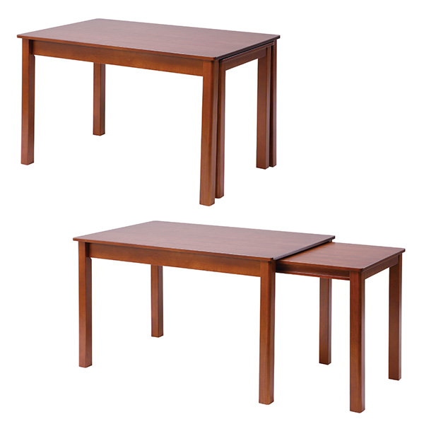 【送料無料】伸長式 ダイニングテーブル 幅120/200cm ダイニング 伸長 伸長テーブル つくえ 机 便利 カフェ風 シンプル おしゃれ インテリア 家具 北欧 伸長ダイニングテーブル エクステンションテーブル 伸長 テーブル インナーキャスター ブラウン 茶色