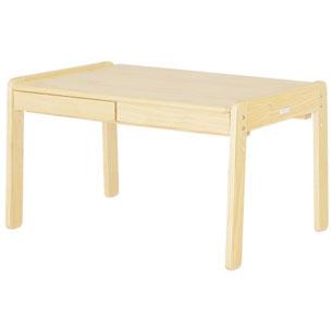 【送料無料】 ラージデスク キッズデスク キッズテーブル キッズ用デスク 大きい こども 机 テーブル ナチュラル 木製 ノスタ 引き出し付 大きめ 子供用テーブル キッズ用テーブル お絵かき机 お絵かきテーブル