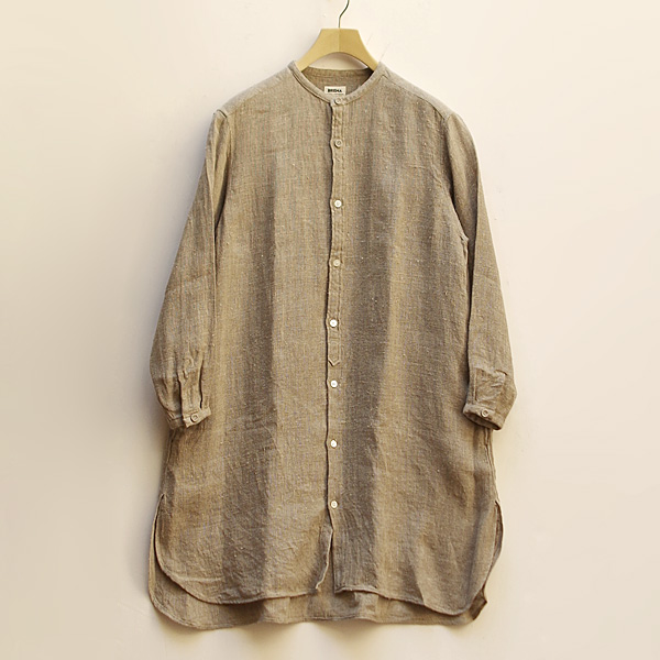 BRENA(ブレナ)TRAVAIL ONEPIECEFrench 70's Deadstock Antique Linenシャツワンピース