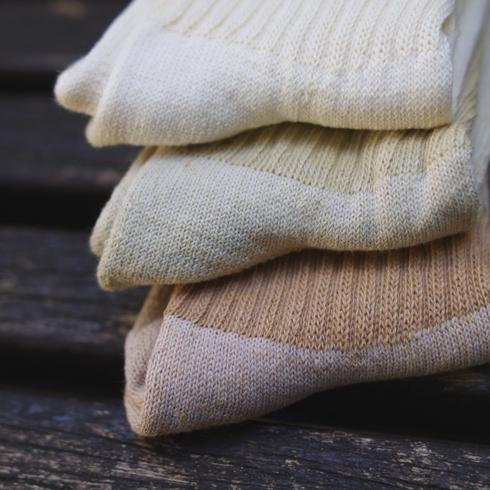 ORGANIC THREADS(有机线程)棉布3P短袜(常规)