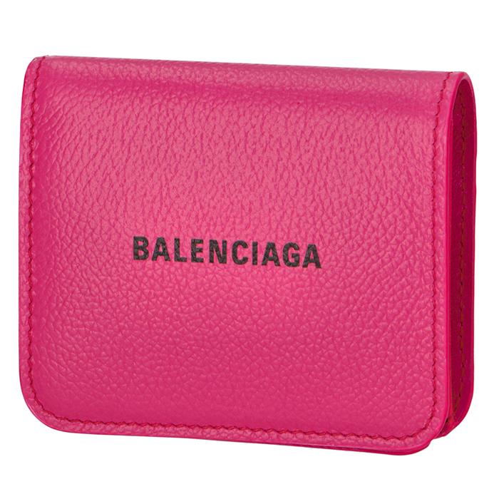 バレンシアガ 財布 開店記念セール 二つ折り ロゴ フラップウォレット ピンク系 ASID 594216 L 5660 FUCHSIA BALENCIAGA 1IZ43 BLACK 送料0円