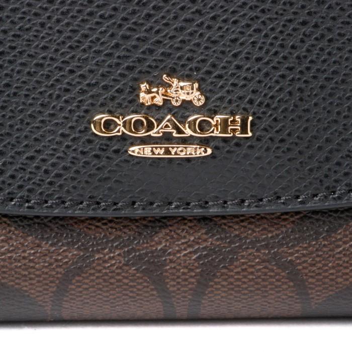 FINAL SALE コーチ COACH アウトレット シグネチャー 二つ折り長財布 ブラウン×ブラック F54022IMAA8Y6vgfyb7